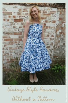 Make a vintage style sundress from your own measurements! This tutorial includes how to draft the pattern pieces for the bodice and how to work out the dimensions of the skirt. Clear instructions and plenty of pics!