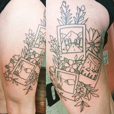 Started Lara's Montana polaroid thigh tattoo today! Looking forward to coloring this one. Thanks for sitting so well, you're a Badass.…