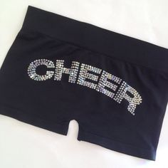 Girls Youth Sequin Cheer Black