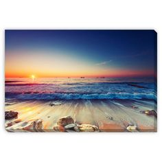 Gallery Direct Valentin Valkov 'Sunrise Over Sea' Gallery Wrapped Canvas Art