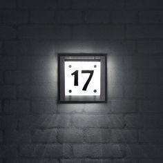 Husnummer SQUARE LED-lys