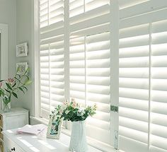 Spring Has Sprung! It's spring in the southern hemisphere. Why not add stylish spring-inspired floral designs to your home décor? Wooden Shutter Blinds, White Wooden Blinds, Wooden Window Shutters, White Blinds, White Shutters, Wood Windows, Wood Blinds, White Shutter Blinds, Indoor Shutters