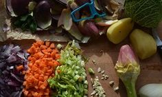 chopped vegetables ready to go into a minestrone