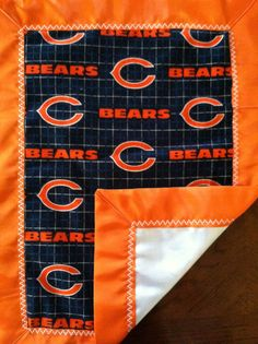 Chicago Bears Baby Flannel & Satin Snuggle Blanket by CozyKrafts, $15.95