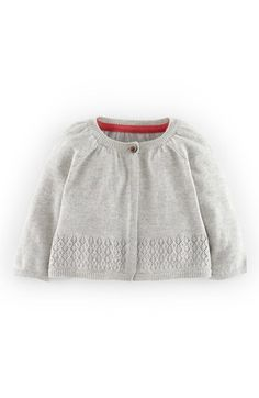 Mini Boden Pointelle Cotton & Cashmere Cardigan (Baby Girls) available at #Nordstrom