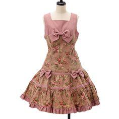 Floral velveteen jumper skirt Heart E ☆ ·.. · ° ☆ ·.. · ° ☆ ·.. · ° ☆ ·.. · ° ☆ ·.. · ° ☆ http://www.wunderwelt.jp/products/detail6136.html ☆ ·.. · ° ☆ How to buy ☆ ·.. · ° ☆ http://www.wunderwelt.jp/user_data/shoppingguide-eng ☆ ·.. · ☆ Japanese Vintage Lolita clothing shop Wunderwelt ☆ ·.. · ☆ #sweetlolita
