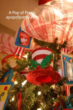 My Dr. Seuss Christmas Tree | A Pop of Pretty: Canadian Decorating Blog | Finding the pretty in an every day home | Affordable home decor ideas tips tutorials inspiration |St Johns NL