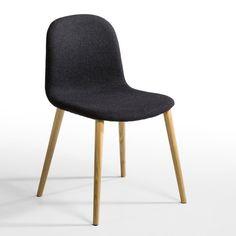 Chaise Kirty AM.PM : prix, avis & notation, livraison.  La chaise Kirty. Elle réunit élégance et confort... Caractéristiques : - Revêtement flanelle 75% laine, 20% polyamide, 5% autres fibres. - Coque en contreplaqué de hêtre garni de mousse polyuréthane 40 kg/m3. - Pieds en chêne massif vernis nitrocellulosique.Dimensions : - Totales : L49 x H79 x P53 cm. - Assise : L44,5 x H48 x P40 cm.