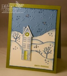 Merry Monday Challenge #130. Stampin' Up! Holiday Home. Debbie Henderson, Debbie's Designs.