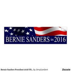 Bernie Sanders President 2016 USA Flag - Car Floor Mats License Plates, Air Fresheners, and other Automobile Accessories