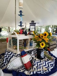 Nautical buffet centerpiece