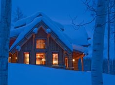 Cabin on Christmas Eve-a dream.