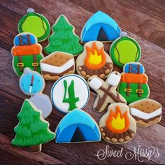 Sweet Missy's - Cookies for a camping themed 4th birthday! Thanks...