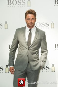 Gerard Butler is unveiled as the new face of Boss Bottled at Westfield White City. - London