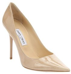 Jimmy Choo nude patent leather 'Abel' pumps