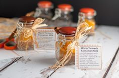 Labels for Tumeric Cinnamon Milk spice mix