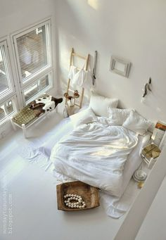 White, wood and light are great anywhere.