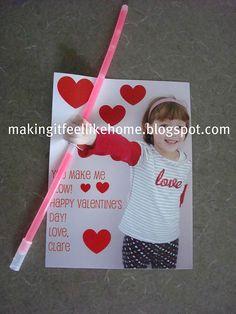 making it feel like home: Glowstick Valentines