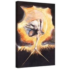 'The Ancient of Days, from Europe a Prophecy' by William Blake Gallery Wrapped on Canvas