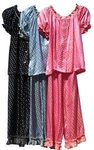 Goody Goody Women's Silk Dotty Pajamas 2 pc Set