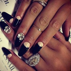 This Pin was discovered by Nails Inspiration. Discover (and save!) your own Pins on Pinterest. | See more about black nail polish, black nails and nail polish.