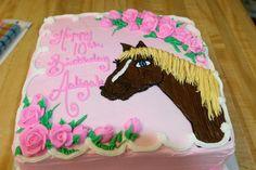 Horse cake for girls.