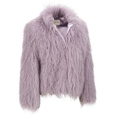 Fabulous Furs Tibetan Lamb FauxFur Jacket (17.105 RUB) ❤ liked on Polyvore featuring outerwear, jackets, animal jackets, faux jacket, fake fur jacket, purple jacket and purple faux fur jacket