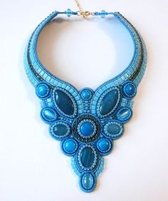 Beautiful embroidered jewelry by Anna Galash | Beads Magic