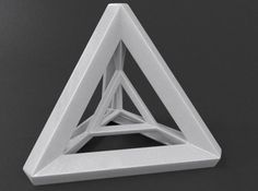 Tetra Prism - Absolutely fascinating to look at, this exquisite desktop showpiece will have you pondering dimension and angles for hours. Solid Geometry, Sacred Geometry Patterns, Concept Models Architecture, Sacred Architecture, Triangle Art, Triangle Design, Geometric Sculpture, Math Art, 3d Models