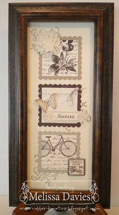 RubberFUNatics: Framed Art.  I have this stamp set - I'll have to make this one!