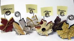 Sale! Place card holders - Fall Leaves - Dining Table Accessories