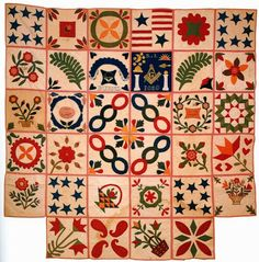 1850's Applique Sampler/ Minnesota, forget the name of the historical society. The ladies who made this came from Maine.