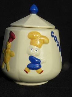 """Vintage Shawnee """"Little Chef"""" Cookie Jar marked USA"""