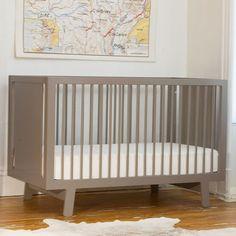 Sparrow Crib In Grey : Contemporary Nursery at PoshTots