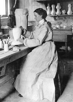 Mary Chase Perry Stratton is considered an icon of the American Arts and Crafts Movement. She's important from many different aspects, as an artist, a woman entrepreneur, and a technical innovator. She, along with partner Horace Caulkin, founded Pewabic Pottery in 1903.