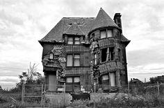 Verlaten huis op Eliot street in Detroit