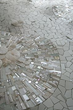 Sonia King is doing some ground-breaking work with mosaics here in the US. This is called 'Permafrost.'