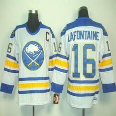nhl buffalo sabres ccm jersey 16 pat lafontaine white vintage jersey c patch