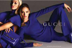 Gucci Spring Summer 2013 Ad Campaign Models: Anja Rubik, Karmen Pedaru Photographer: Mert Alas and Marcus Piggott Website: www. Anja Rubik, Blue Fashion, Fashion Week, Fashion Models, Fashion Trends, Gucci Models, Fashion Tape, Fashion Couple, Gucci Fashion