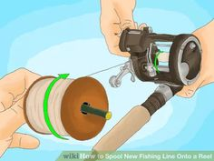 Image titled Spool New Fishing Line Onto a Reel Step 7