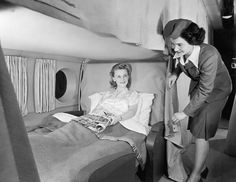 Make Yourself at Home  Passengers got cozy aboard the short-lived Boeing Stratocruiser. Complete with spacious, bunk-bed-style cabins and a VIP lounge and bar, this double-decker plane made long, intercontinental trips a breeze.