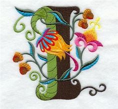 Machine Embroidery Designs at Embroidery Library! - Jacobean Alphabet