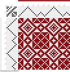 Billedresultat for vævemønstre Weaving Designs, Weaving Projects, Weaving Patterns, Textile Patterns, Stitch Patterns, Knitting Patterns, Inkle Weaving, Paper Weaving, Weaving Art