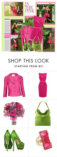 """""""Pink Petals"""" by prettyasapicture ❤ liked on Polyvore featuring ESCADA, L.K.Bennett, Coast, Dooney & Bourke, Alexandre Birman and Ted Rossi"""