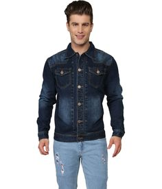 Ripfly Blue Cotton Denim Jacket Jackets Online, Get The Look, Denim, Casual, Cotton, Blue, Stuff To Buy, Shopping, Fashion