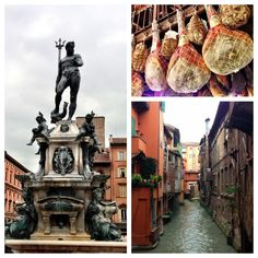 """""""A quick peek of the sights seen today in Bologna. From the Zeus statue by the main square, to the canals, to the food!! This is Bologna!"""" by @Norbert Mierzwa Figueroa"""