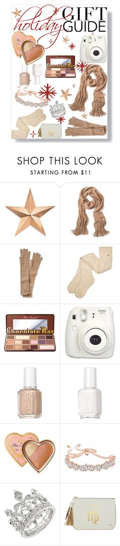 """""""Holiday Gift Guide: Cashmere and Icicles"""" by xoxolua ❤ liked on Polyvore featuring Thos. Baker, Banana Republic, UGG, Too Faced Cosmetics, Fujifilm, Essie and Stephanie Johnson"""