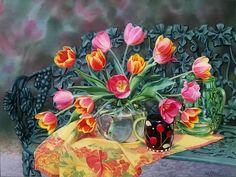 Цветочные натюрморты. Mary Kay Krell.. Обсуждение на LiveInternet - Российский Сервис Онлайн-Дневников