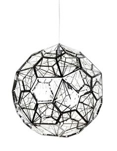 The Fritillary Pendant Light - Medium is a geometric like dome that features a polished stainless steel frame composed of pentagonal panels finished with geometric filigree. Melbourne, Sydney, Pendant Lamp, Pendant Lighting, Cafe Lighting, Industrial Metal, Unique Lamps, Minimalist Interior, Light Fittings