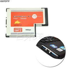 2 Port USB 3.0  EXPRESSCARD Expansion Card for Laptop - L059 New hot #Affiliate